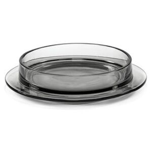 Dishes to Dishes - Verre Soup plate - / Low - Ø 29 x H 6 cm by valerie objects Grey
