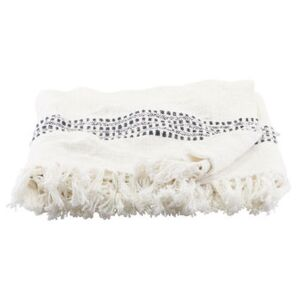 Kolonia Plaid - / 180 x 130 cm - Cotton by House Doctor White/Beige