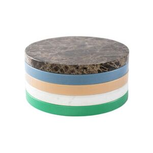 Five Circles Tray - / Multifunction - Ø 21 cm / Marble & polyethylene by valerie objects Multicoloured