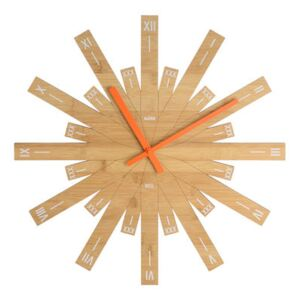 Raggiante Wall clock - Ø 48 cm by Alessi Natural wood