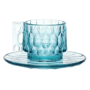 Jellies Family Coffee cup - Set cup + saucer by Kartell Blue