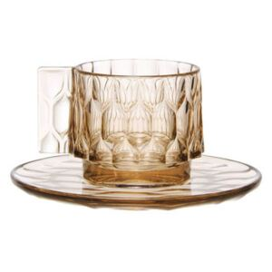 Jellies Family Coffee cup - Set cup + saucer by Kartell Green