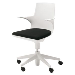 Spoon Chair Armchair on casters by Kartell White