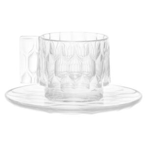 Jellies Family Coffee cup - Set cup + saucer by Kartell Transparent