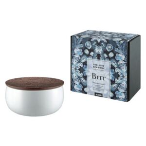 The Five Seasons Scented candle - / Porcelain - H 7.5 cm by Alessi White/Natural wood