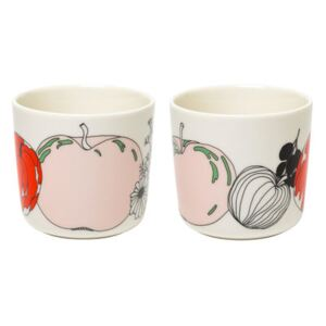 Tarhuri Coffee cup - / Without handle - Set of 2 by Marimekko White/Red/Green