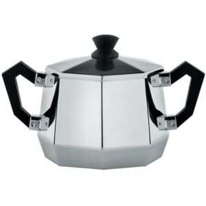 Memories from the future - Ottagonale Sugar bowl by Alessi Black/Metal