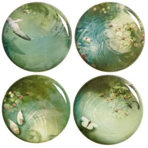 Yuan Plate - / Set of 4 by Ibride Green