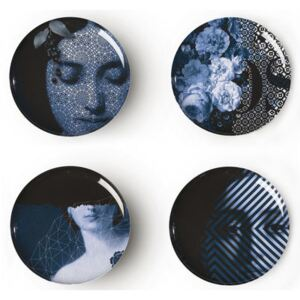 Yuan Osorio Plate - / Set of 4 by Ibride Multicoloured