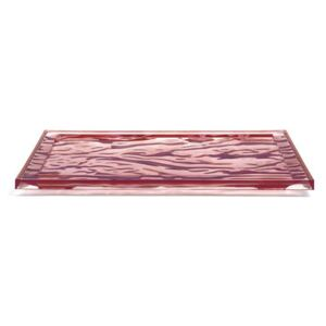 Dune Large Tray - / 55 x 38 cm - PMMA by Kartell Pink