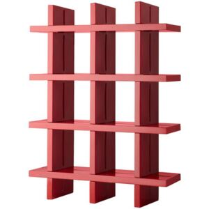My Book Bookcase - H 184 cm - W 138 cm by Slide Red