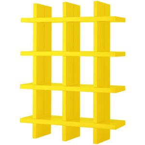 My Book Bookcase - H 184 cm - W 138 cm by Slide Yellow