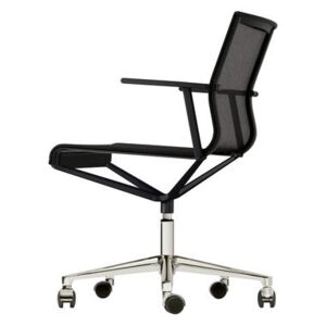 Stick Chair Armchair on casters - With castors by ICF Black