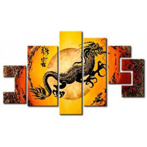 Canvas Print Zen: In the claws of the chinese dragon