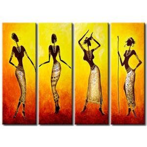 Canvas Print People: Dance of African girls