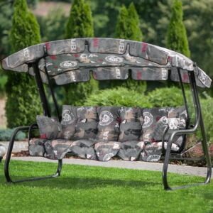 Replacement swing cushions set with canopy 170 cm Ravenna F001-06PB PATIO