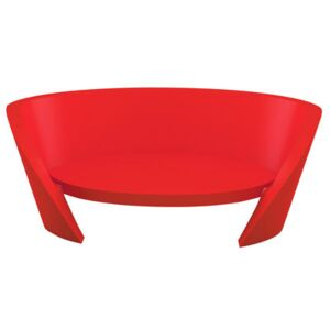 Rap Straight sofa by Slide Red