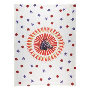 Cheval Tea towel - / 50 x 70 cm - Cotton by Bitossi Home Red/Brown/Purple