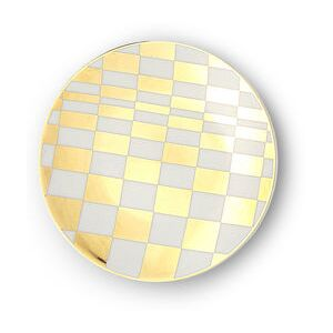 Sibilla Petit fours plates - / Ø 12 cm by Bitossi Home White/Gold