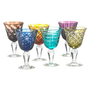 Cuttings Wine glass - / Set of 6 by Pols Potten Multicoloured
