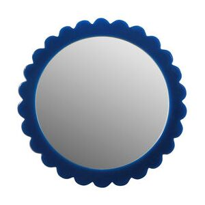 Bloom Free standing mirrors - / Ø 17 cm - Polyresin by & klevering Blue
