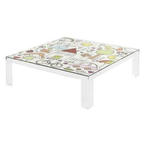 Invisible Kids Children table - / Patterns by Kartell Multicoloured/Transparent