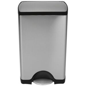 Deluxe Rectangular Pedal bin - step can - 38 liters by Simple Human Metal