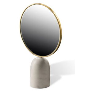 Round Free standing mirrors - / Marble by Pols Potten White