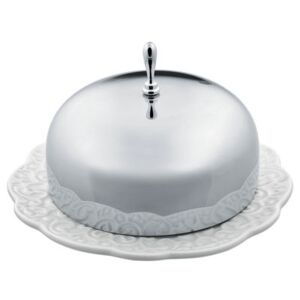 Dressed Butter dish by Alessi White/Metal