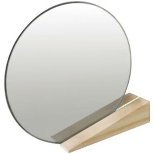 On the edge Free standing mirrors by Thelermont Hupton White/Natural wood