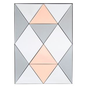 Rhomb Free standing mirrors - / 50 x 70 cm by House Doctor Pink/Grey/Mirror