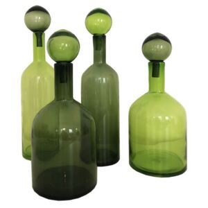 Bubbles & Bottles Carafe - / Set of 4 - Limited Christmas 2020 edition by Pols Potten Green