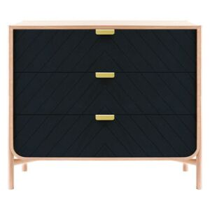 Marius Chest of drawers - L 100 x H 90 cm by Hartô Blue/Natural wood
