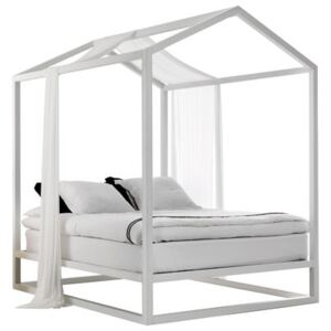 Casetta in Canadá Four-poster bed - / 213 x 173 x H 235 cm by Mogg White