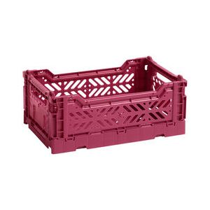Colour Crate Basket - Small / 26 x 17 cm by Hay Red