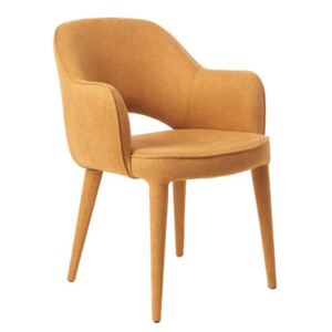 Cosy Padded armchair - / Fabric by Pols Potten Yellow