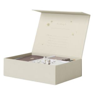The begining of my life Box - / L 25 x H 7 cm by Ferm Living Gold/Beige