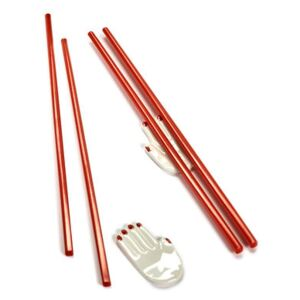 Mains Chopstick holders - / Set of 2 (Japanese chopsticks included) by Serax White