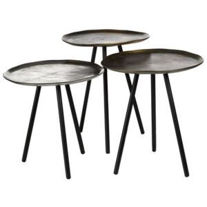Skippy Nested tables - Set of 3 by Pols Potten Gold/Silver/Metal