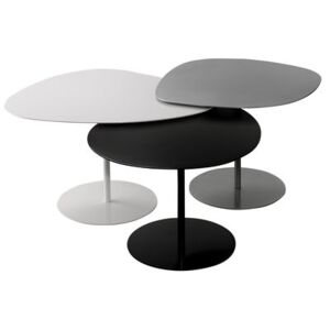 Galet OUTDOOR Nested tables - Set of 3 by Matière Grise White/Grey/Black