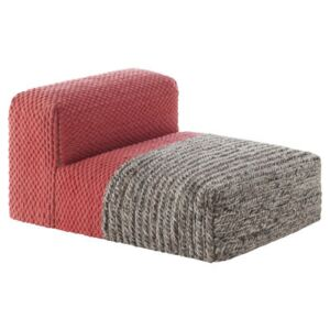 Mangas Space Plait Easy chair - / L 120 cm by Gan Pink