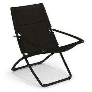 Snooze Cosy Reclining chair - / Mesh fabric - Foldable - 2 positions by Emu Black