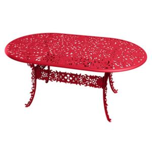Industry Garden Oval table - L 152 cm by Seletti Red