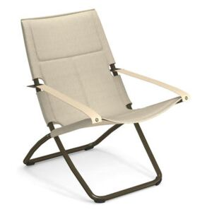 Snooze Cosy Reclining chair - / Mesh fabric - Foldable - 2 positions by Emu Beige