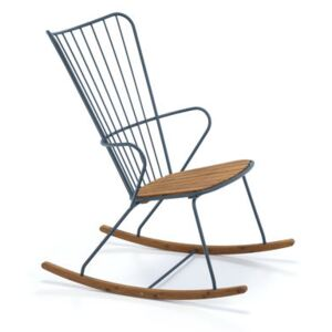 Paon Rocking chair - / Metal & bamboo by Houe Blue/Natural wood