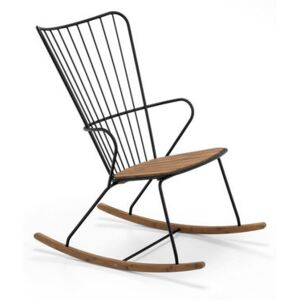 Paon Rocking chair - / Metal & bamboo by Houe Black/Natural wood