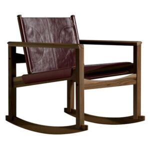 Peglev Rocking chair - Rocking chair by Objekto Brown/Natural wood