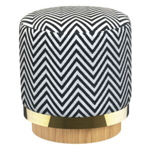 Pouf - / Fabric by RED Edition White/Black