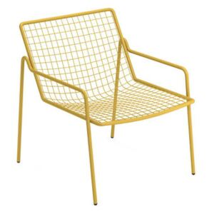 Rio R50 Stackable low armchair - / Metal by Emu Yellow