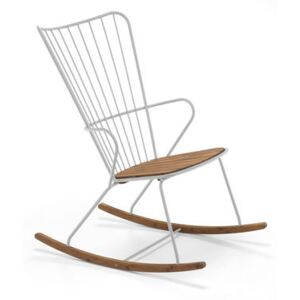 Paon Rocking chair - / Metal & bamboo by Houe Beige/Natural wood